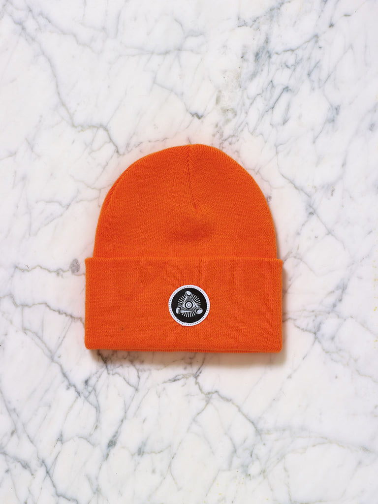 Eye Badge Beanie (Orange)