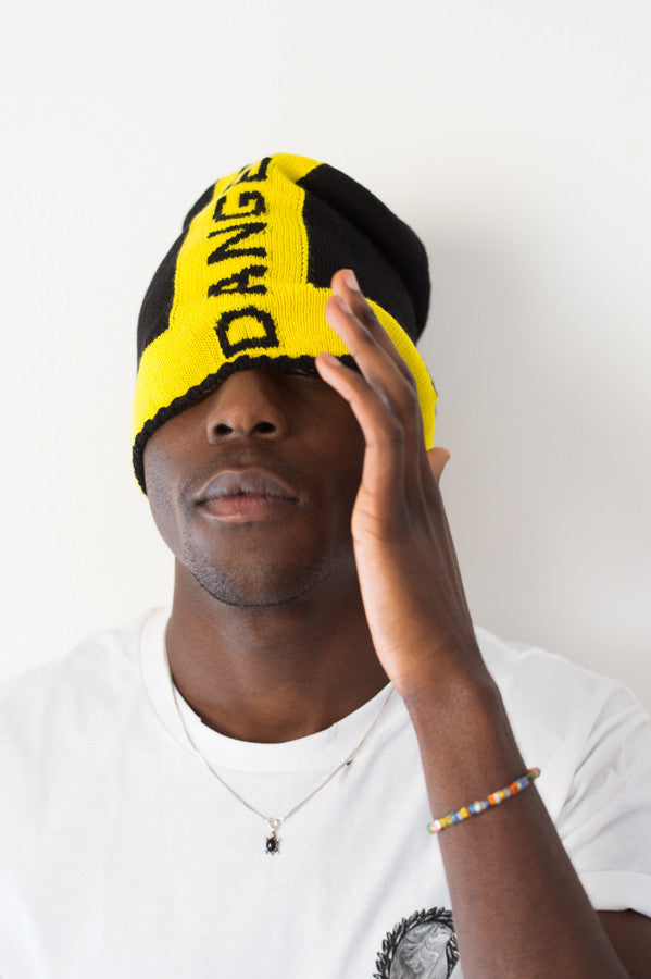 Danger Merino Beanie (Black / Yellow)