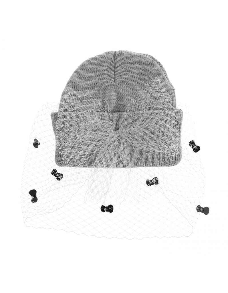 Hello Kitty Mesh Bow Beanie Long