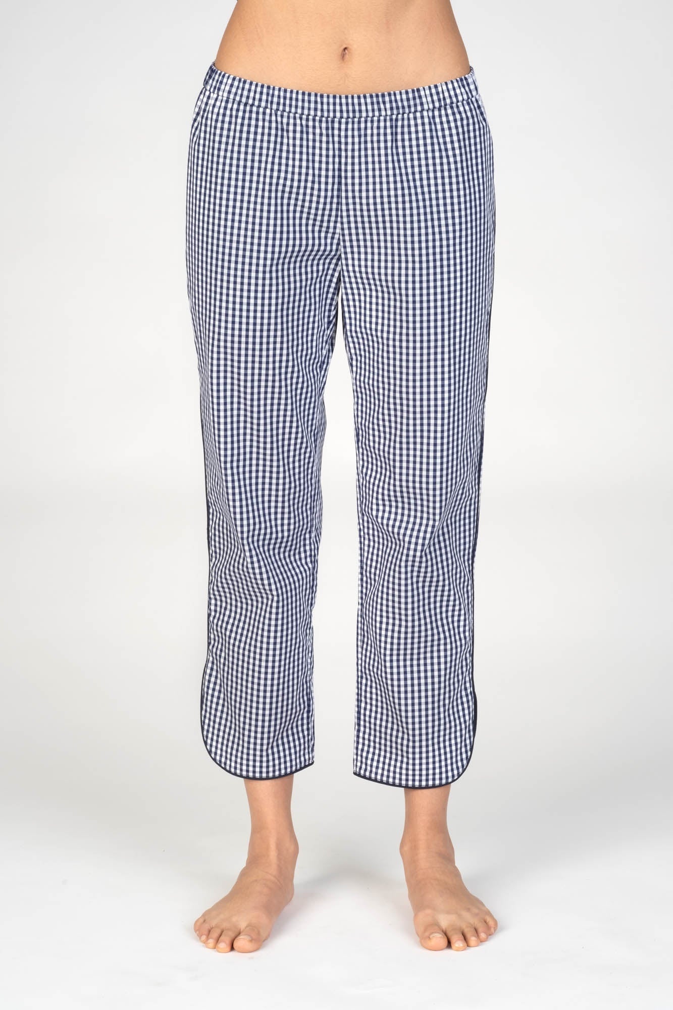 Poppy Navy Gingham
