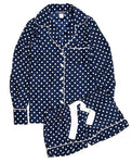 Jane-SALE-Navy/Cream dot