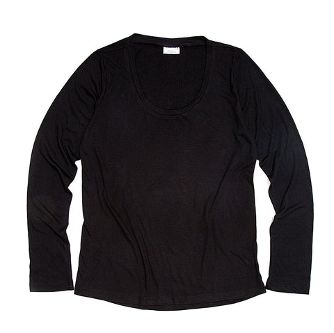 Black Long Sleeve Jersey Shirt