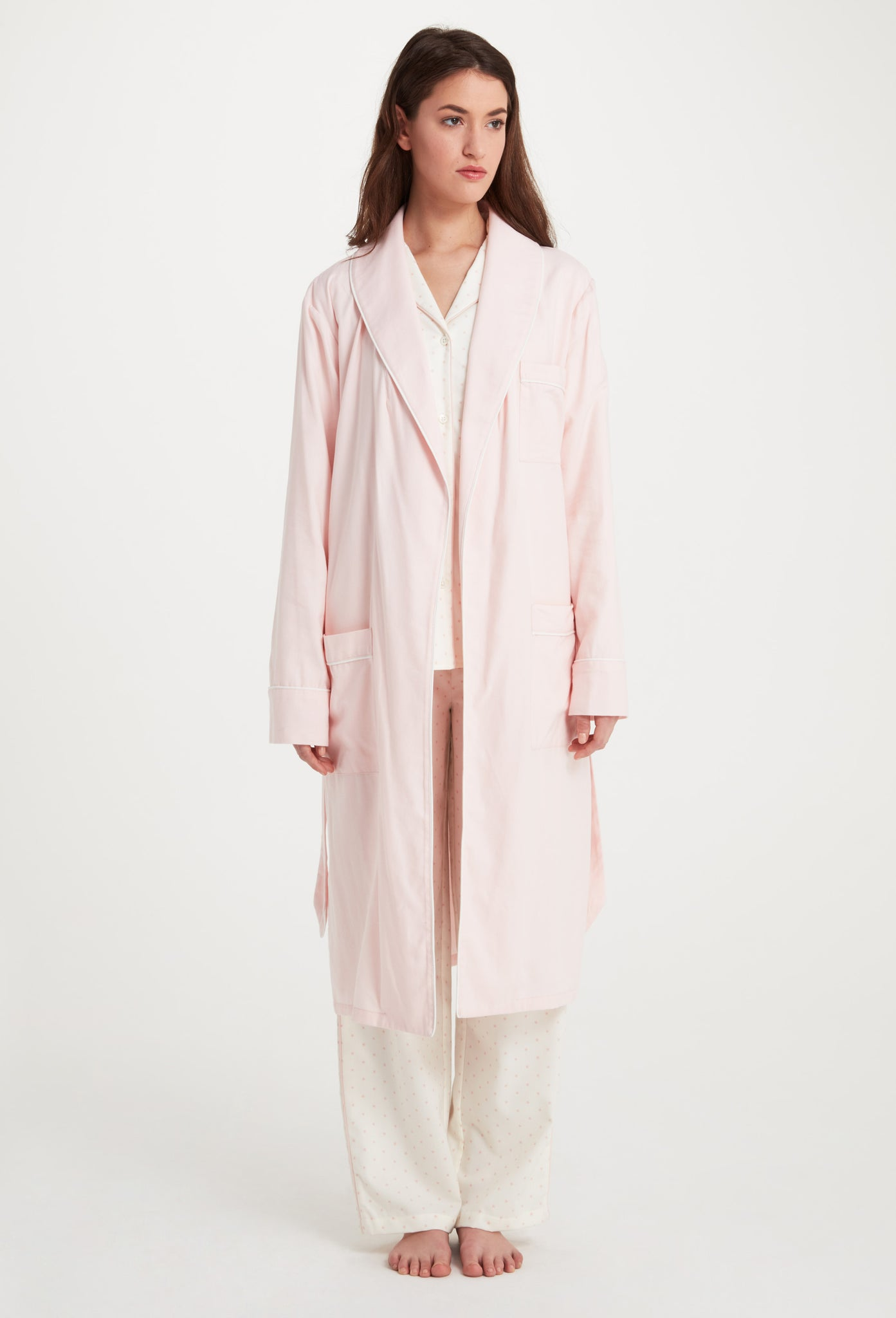 Solid Pink Flannel Robe