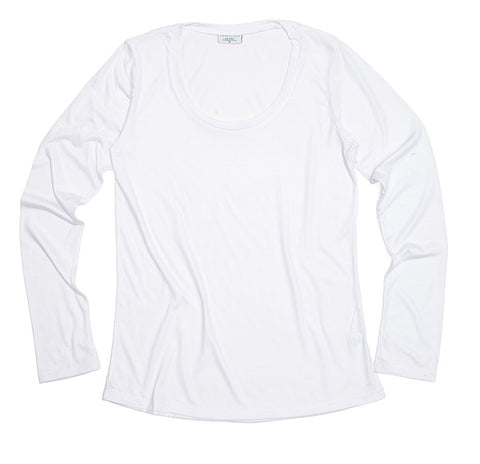 White Long Sleeve Jersey Shirt