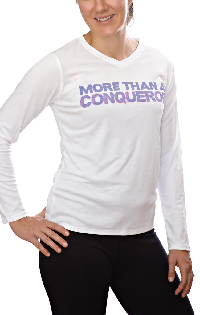 More Than A Conqueror - Women's Long Sleeve Dri-Fit