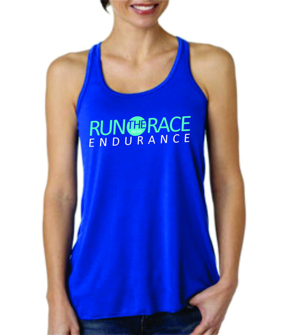 Run The Race - Women's Tank - Royal
