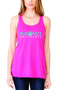 Run The Race - Women's Tank - Hot Pink