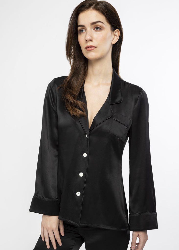 Black silk luxury pyjamas