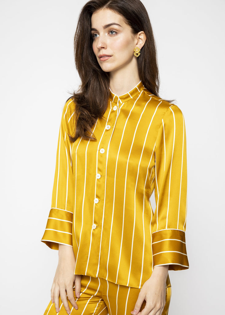 luxury silk gold pyjamas