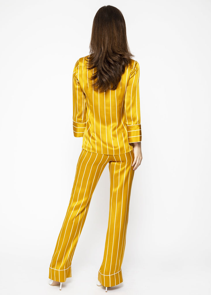 luxury silk golden loungewear
