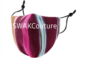 Swakcouture Face Mask Washable Cotton Face Mask USA made Filter pocket Face Mask
