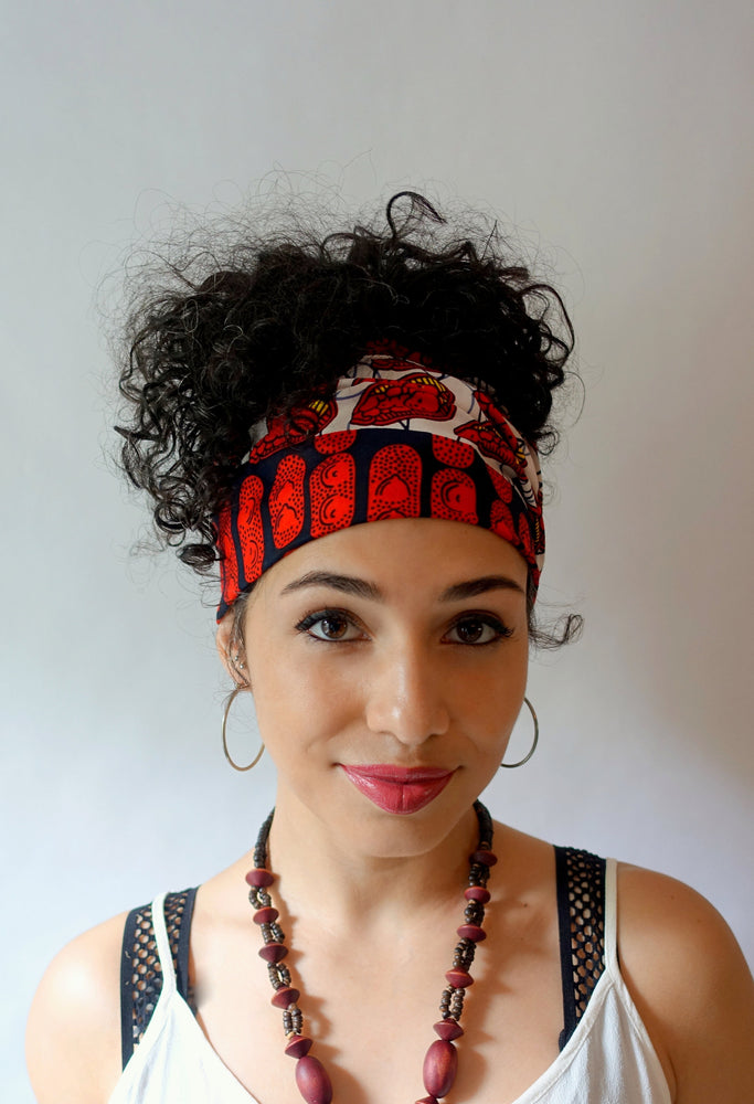DJENABA #2 Satin Lined Wide Headband Wrap