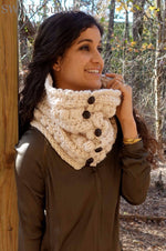 Sitka Button Cowl Scarf, Handmade