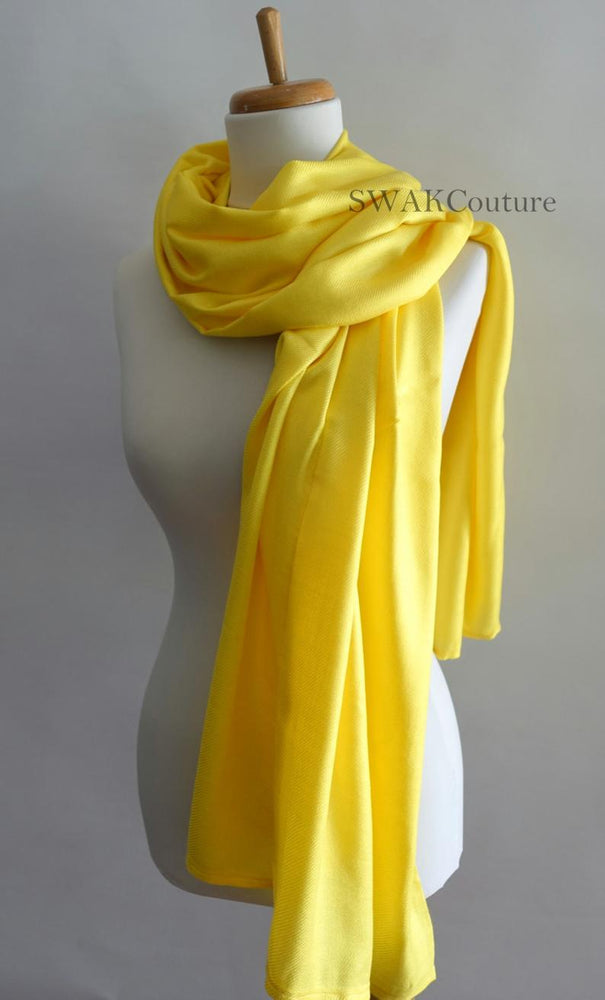 Pashmina Shawl Scarf - Canary Yellow