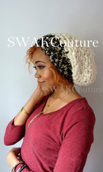 Downtown Slouchy Satin Lined Beanie - COCOA DIPPED