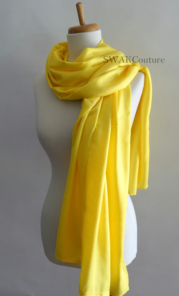 Canary Yellow Wedding Pashmina - or CHOOSE Your Color