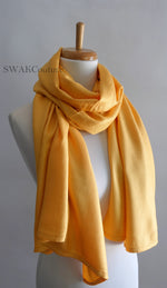 Gold Yellow Wedding Pashmina - or CHOOSE Your Color