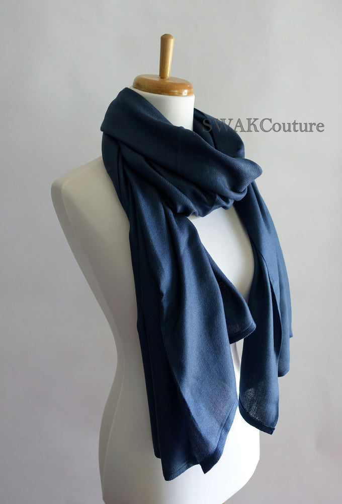 Navy Blue Wedding Pashmina - or CHOOSE Your Color