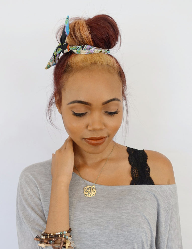 Bun Wire Wrap Headband - Choose Color