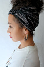 GRANITE Satin Lined Headband Wrap - Choose Color