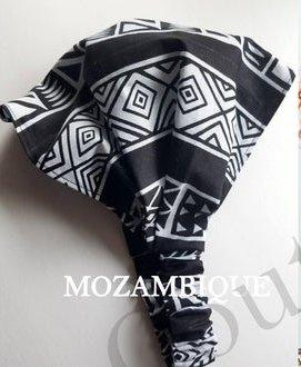 MOZAMBIQUE Satin Lined Headband Wrap