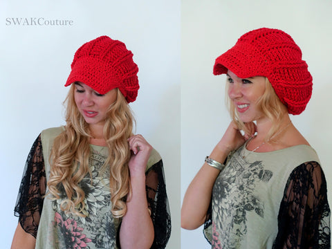 Textured Post Slouchy Cap