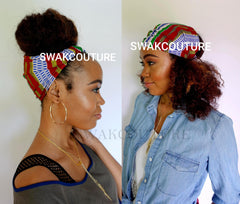 Satin Lined headband wrap styles for natural hair Turban Hair Wrap