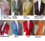 Blue Pashmina Scarf High Quality Wedding Shawl - or CHOOSE Your Color