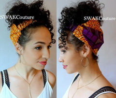 Satin Lined wide headband wrap wide hair bands for Natural curly hair