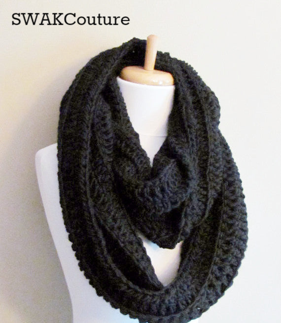 Hooded Cowl Chunky Scarf Handmade Scarf Wool Scarf Unisex Scarf Fashion Scarf Custom scarves Affordable Scarves Scarves for men Knit Scarf Crochet Scarf Snood