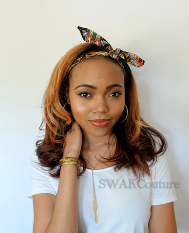 Bun Wire Headband - Boho Fantasy or Choose Color