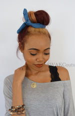 Bun Wire Wrap Headband - Denim or Choose Color