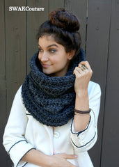 Hooded Scarf Cowl Chunky Scarf Handmade Scarf Wool Scarf Unisex Scarf Fashion Scarf Custom scarves Affordable Scarves Long Eternity Scarf Knit Scarf Crochet Scarf Scoodie