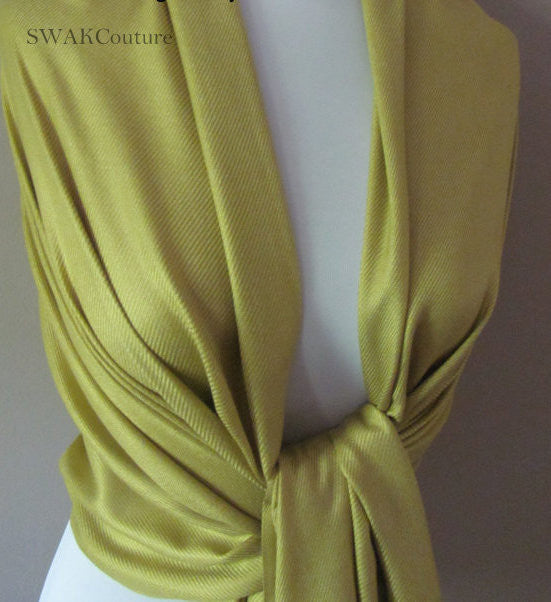 Citron Wedding Pashmina Scarf Bridal Shawl - or CHOOSE Your Color