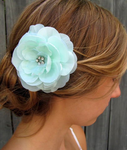 Bridal Hair Comb Wedding Hair Comb Wedding Accessories Silver Hair Comb Rose Comb Pale Mint Green - or CHOOSE Color