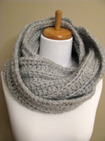 Oversized Infinity Scarf Handmade Scarf Winter Scarf Chunky Eternity Scarf Large Circle Scarf Chunky Cowl Womens scarf - Choose Your Color