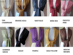 Wedding Pashmina Scarf Set Bridal Shawl Wraps - Choose Any 12 Colors (12-piece set)