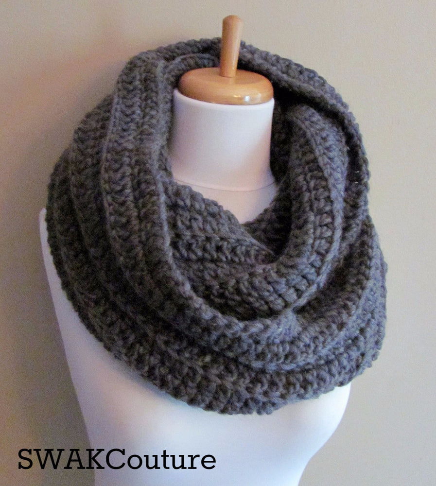 Eternity Cowl Chunky Scarf Handmade Scarf Wool Scarf Unisex Scarf Fashion Scarf Custom scarves Affordable Scarves Scarves for men Knit Scarf Crochet Scarf Snood