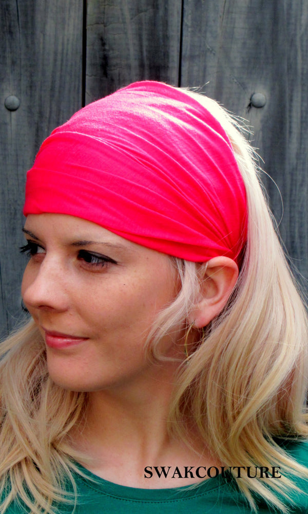 yoga headband wide head wrap chemo band alopecia head scarf head scarf cotton jersey headband tuband