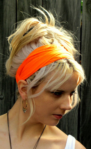 Yoga Head Wrap Cotton Jersey Wide Headband turband chemo head scarf