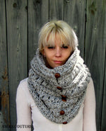 Sitka Button Cowl Scarf - Handmade