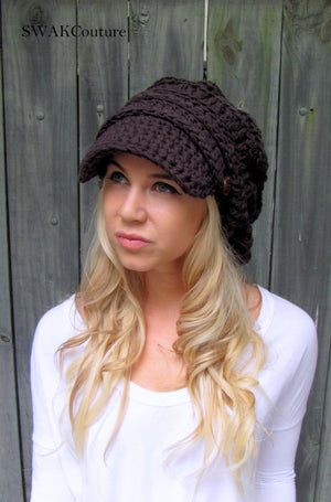 Nina Newsboy Cap - Espresso or choose color