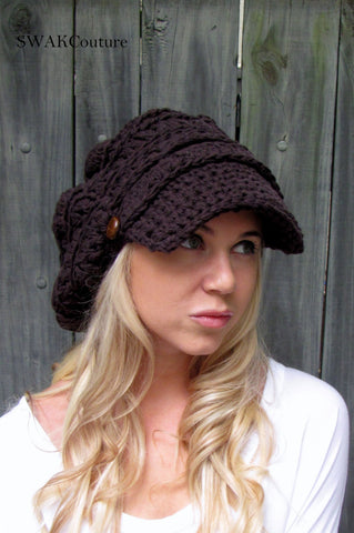 Uptown Slouchy Cap - Espresso or choose color