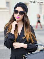 Pleated Turban - Black or Choose Color