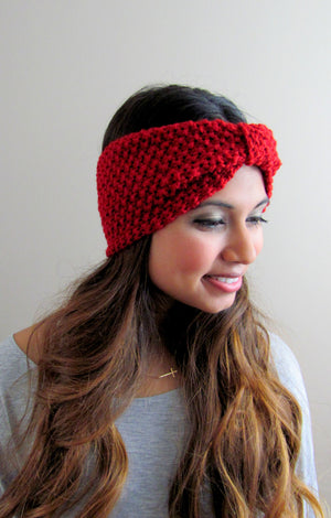 Textured Knit Turband - Wine Red or Choose Color