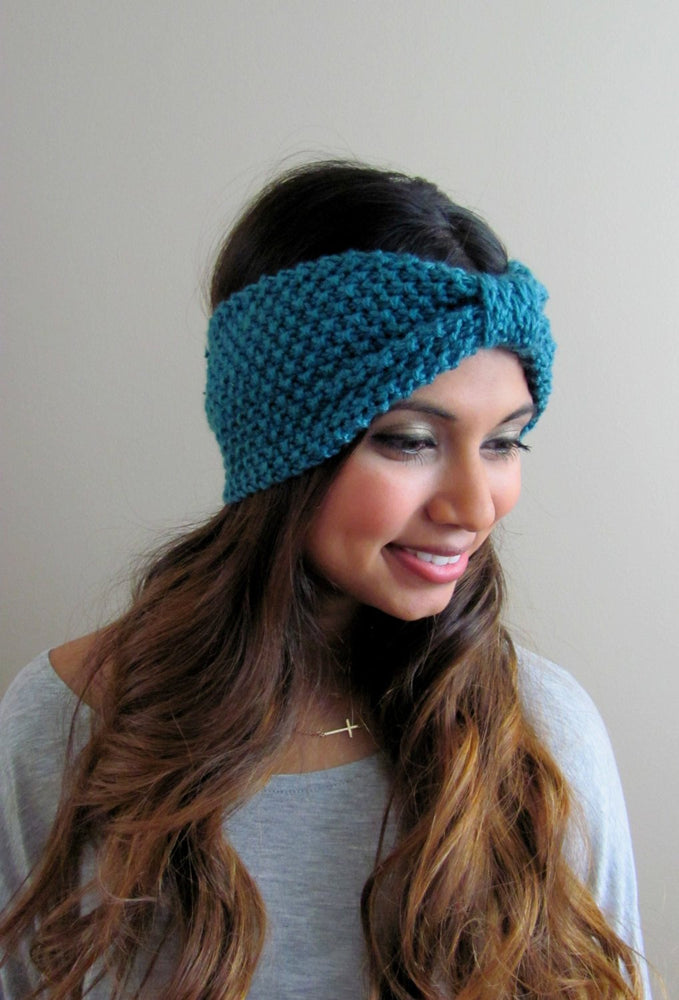 Textured Knit Turband - TEAL or Choose Color