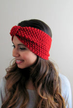 KNIT winter headband wrap turband handmade earwamer