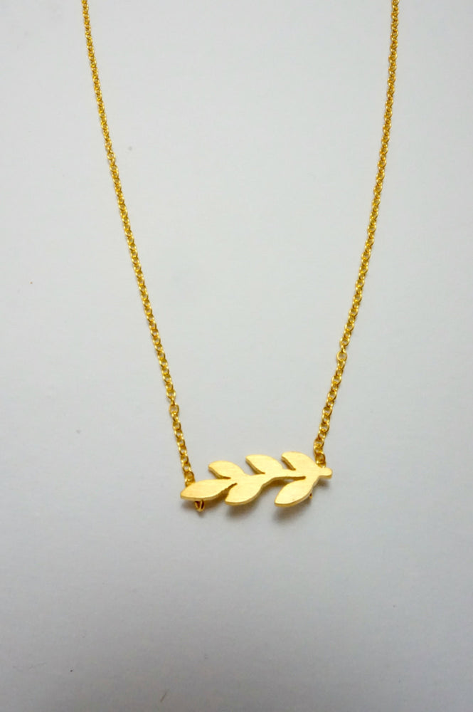 Tiny Branch Charm Necklace