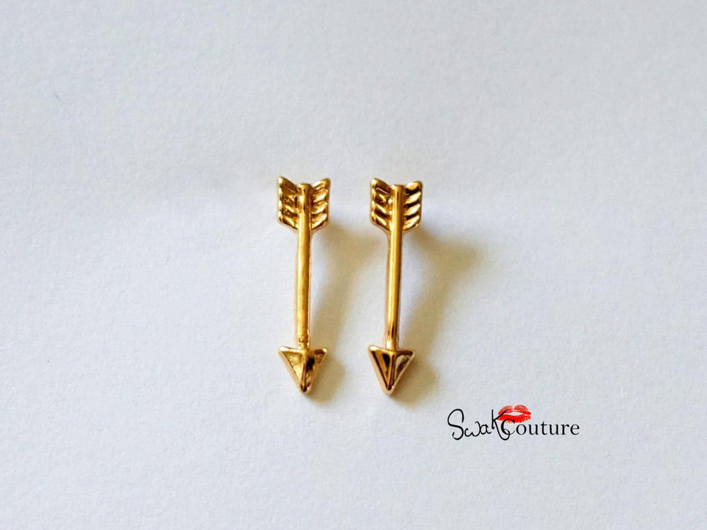 gold plated arrow studs bohemian minimalist jewelry