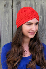 Pleated Turban - Red or Choose Color